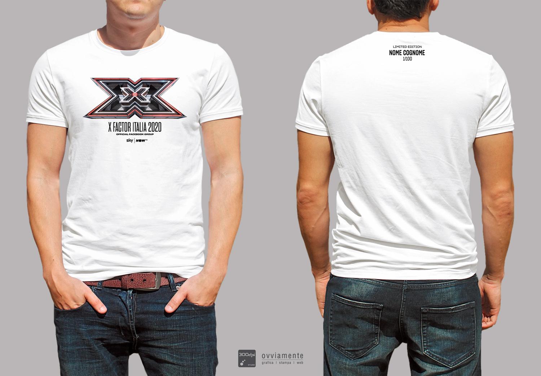 T-Shirt Bianca X Factor 2020