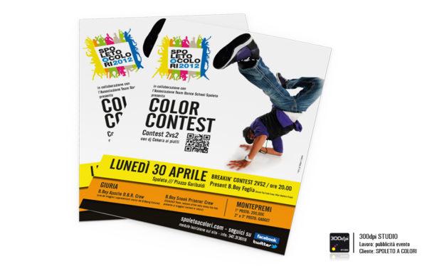 Locandina evento Color Contest formato A4