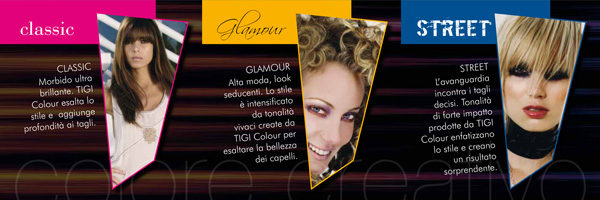 Interno brochure aperta HAIR ZONE colore creativo