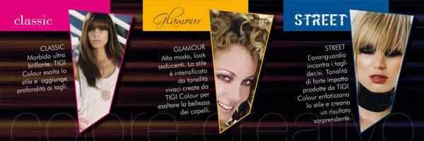 Interno brochure aperta HAIR ZONE colore creativo