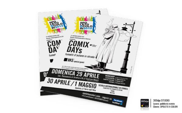 Locandina evento Comix Day formato A4