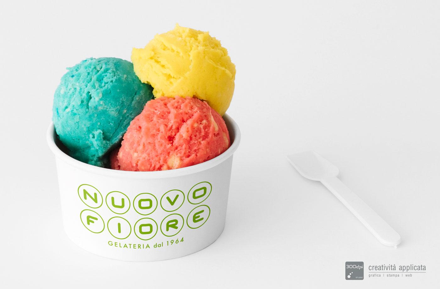 Coppetta gelato Gelateria NUOVO FIORE Rimini - 300dpi STUDIO