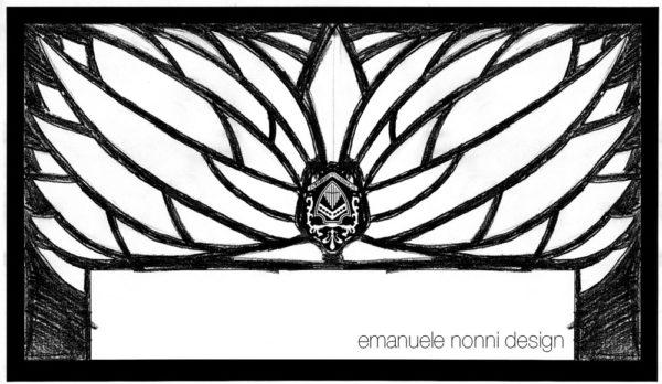 Disegno a mano fisarmonica Scandalli AIR - design Emanuele Nonni