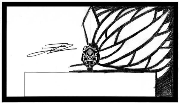 Disegno originale progetto Fisarmonica Scandalli AIR - Emanuele Nonni