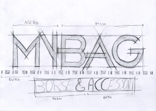 Disegno a mano del logo My Bag
