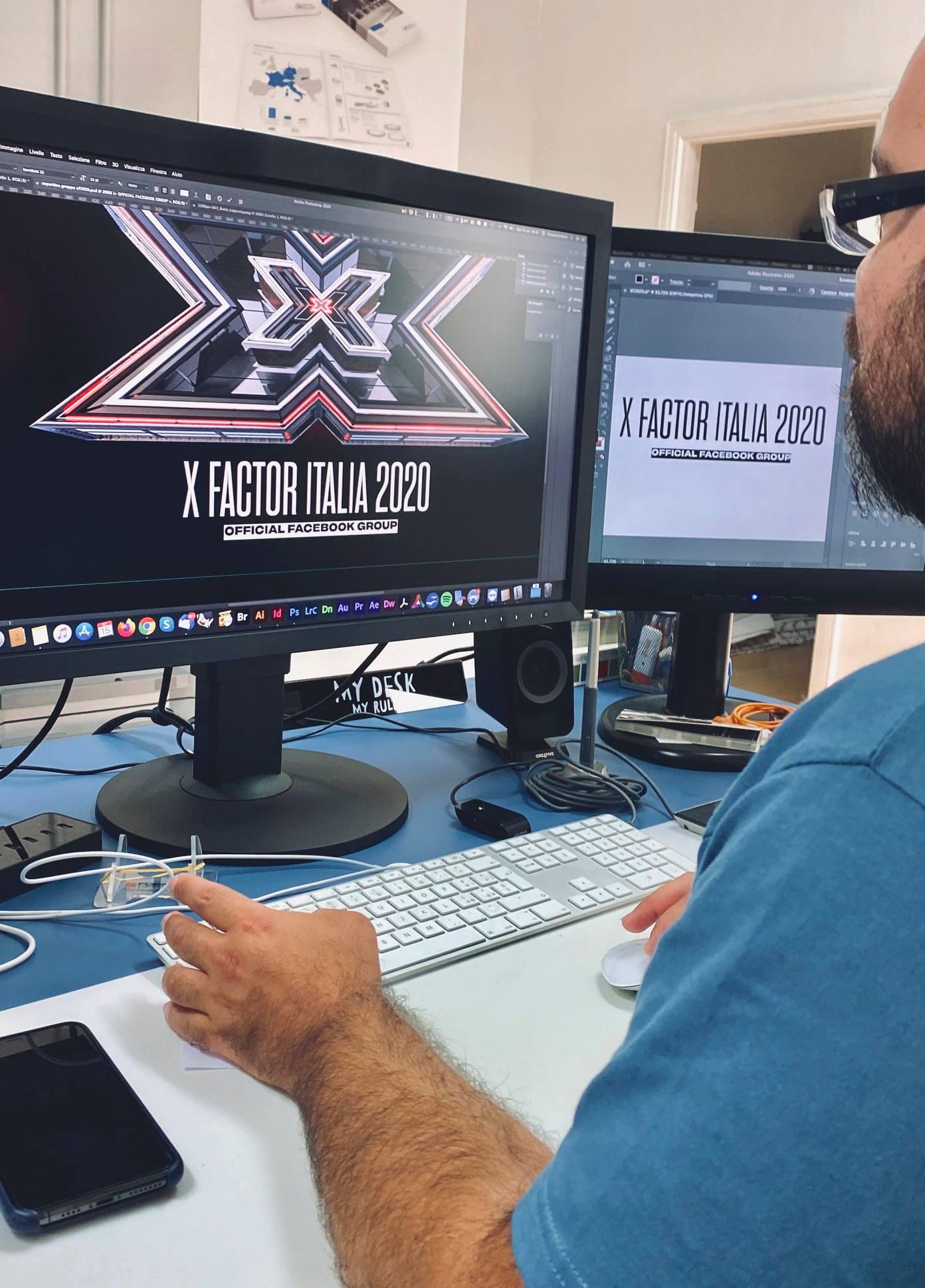 Emanuele Nonni - 300dpi STUDIO fondatore gruppo ufficiale X-Factor 2020 / #XF2020