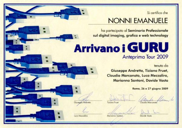 Emanuele Nonni - Arrivano i GURU Adobe 2009