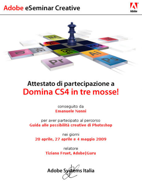 Emanuele Nonni - Domina Adobe CS4 in 3 mosse!