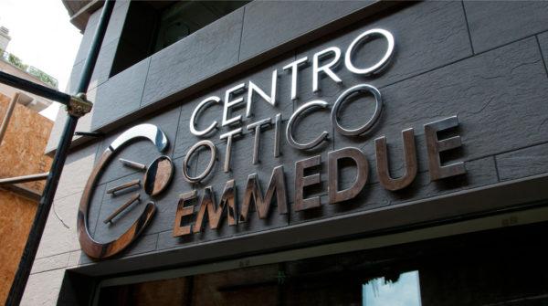 Foto insegna centro ottico EMMEDUE