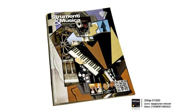 Grafica editoriale della copertina della rivista musicale Strumenti&Musica nr° 19
