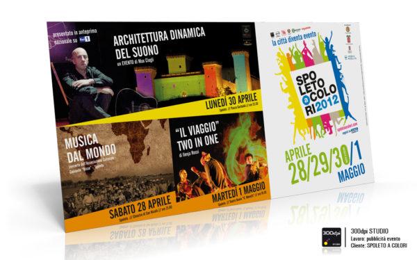 Manifesto 4x2 mt. pubblicità degli eventi di Spoleto a Colori