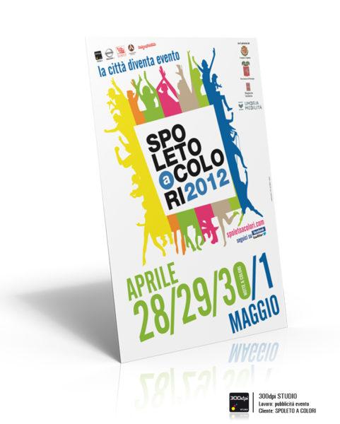 Grafica del manifesto 70x100 cm per l'eveto Spoleto a Colori