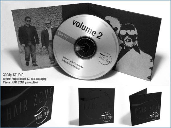 Progettazione cd con pakaging Hair Zone