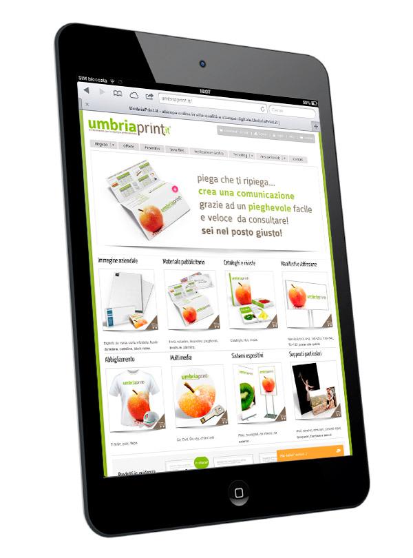 UmbriaPrint.it - Navigabilità da sistemi mobili