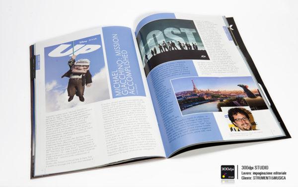 Impaginazione editoriale della rivista Strumenti&Musica nr. 10 articolo su Michael Giacchino