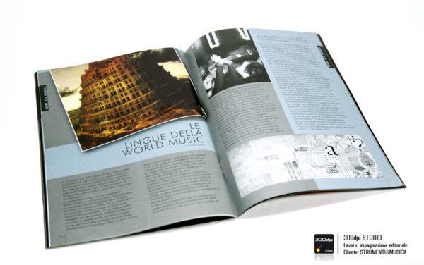 """Impaginazione editoriale rivista Strumenti&Musica nr 13 articolo su """"le lingue della World Music"""