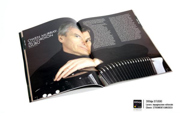 Impaginazione editoriale rivista Strumenti&Musica nr 8 articolo su Owen Murray