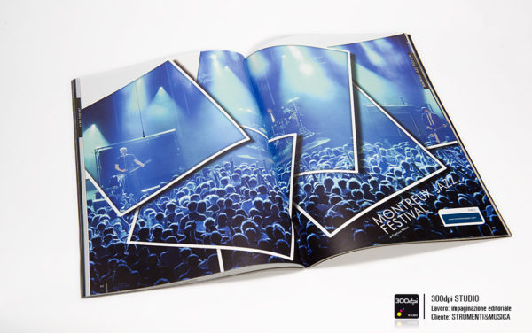 Impaginazione editoriale Strumenti&Musica festival nr 11 articolo sul jazz festival