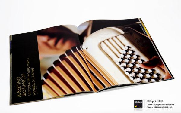 Impaginazione editoriale Strumenti&Musica magazine nr 5 articolo su Albertino Bastianoni