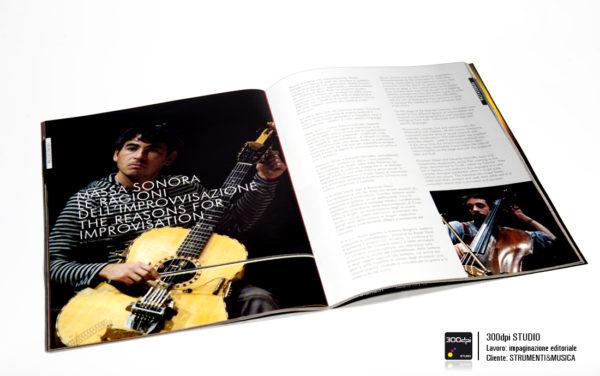 """Impaginazione editoriale Strumenti&Musica magazine nr 5 articolo """"Massa Sonora"""""""