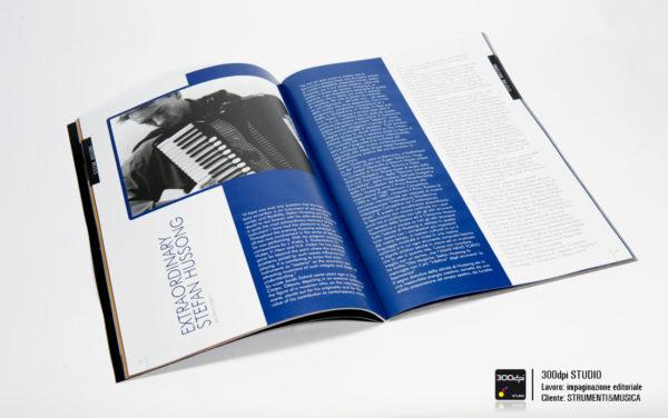 Impaginazione editoriale Strumenti&Musica magazine nr 8 articolo su Stefan Hussong