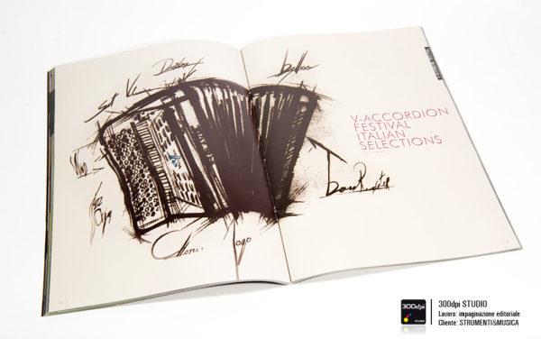 Impaginazione grafica della rivista musicale Strumenti&Musica nr 7 articolo sul V-Accordions festival