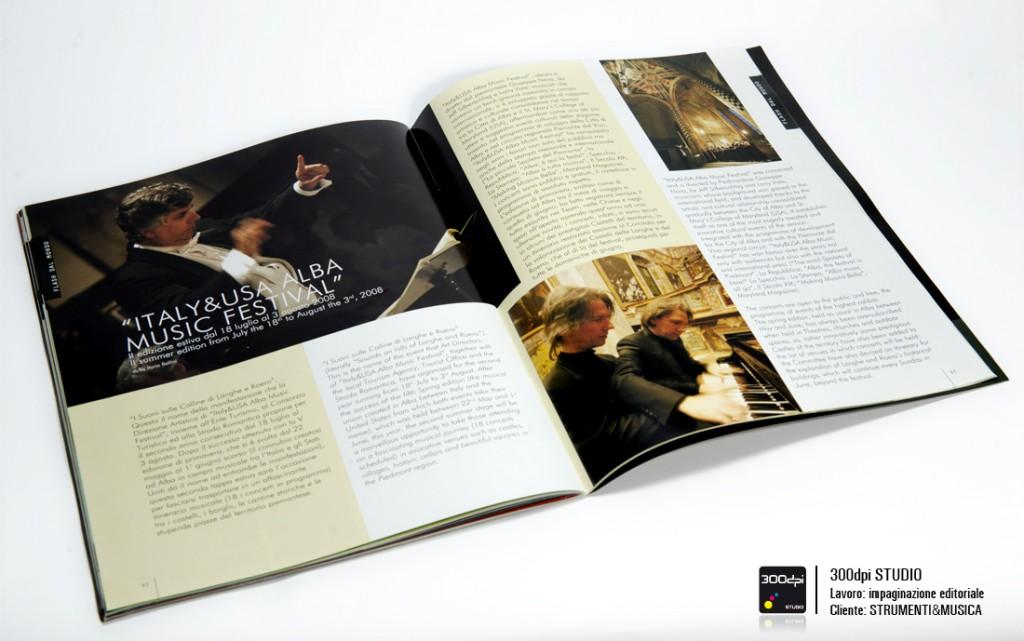 """Impaginazione rivista Strumenti&Musica nr. 3 articolo su """"Aba Music Festival"""""""