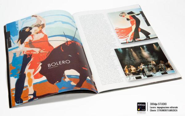 Impaginazione rivista Strumenti&Musica nr 12 articolo sul Bolero
