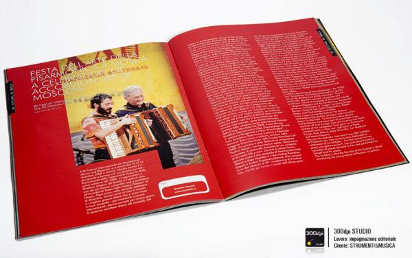 """Impaginazione rivista Strumenti&Musica nr 5 articolo sulal """"Festa dell'Arte della Fisarmonica"""""""
