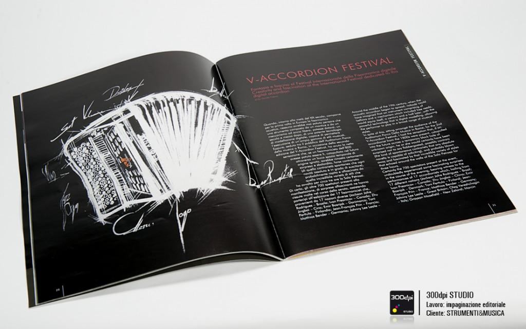 Impaginazione rivista Strumenti&Musica nr 5 articolo V-Accordions Festival