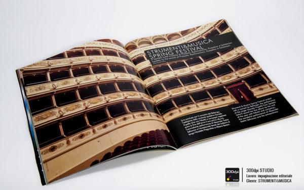 Impaginnazione editoriale rivista musicale Strumenti&Musica nr. 3 aarticolo sullo Spring Festival