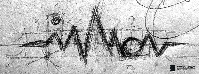 INNON logo djproducer: disegno a mano del progetto