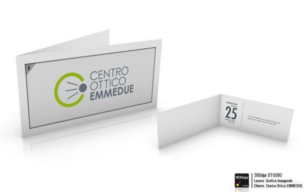 Grafica dell' invito personale. formato chiuso 21x10 cm.