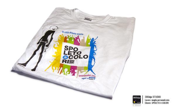 Maglietta personalizzata Spoleto a Colori