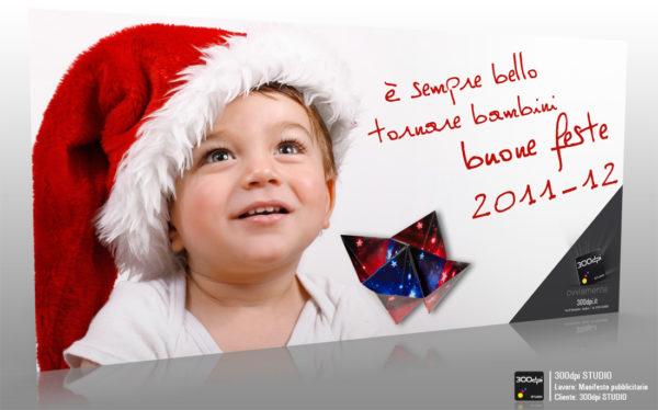 Manifesto 6x3 Origami - Buone feste 2011-12