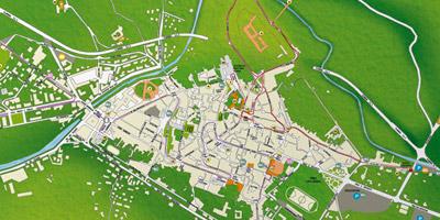 Mappa turistica città di Spoleto