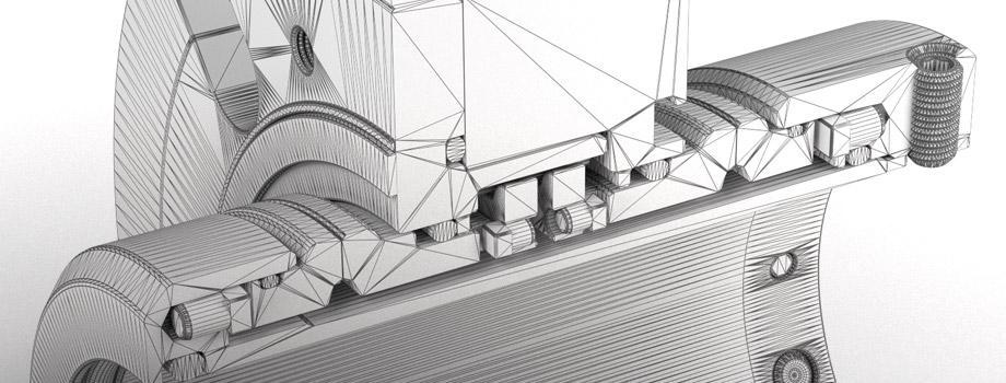 Modellazione 3D e rendering: pezzo meccanico