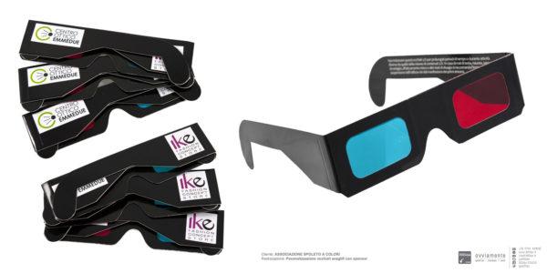 Occhiali 3D anaglifi - Spoleto a Colori 2014