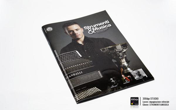Progetto editoriale copertina rivista Strumenti&Musica nr 13