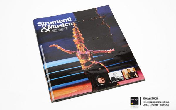 Progetto grafico impaginazione rivista Strumenti&Musica nr 4 copertina