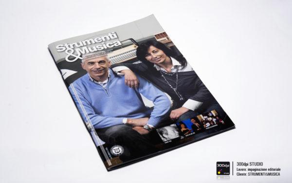 Progetto grafico copertina rivista Strumenti&Musica nr 12