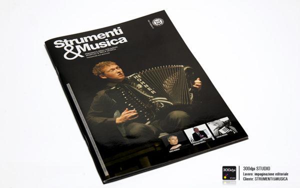 Progetto grafico copertina della rivista Strumenti&Musica nr 8