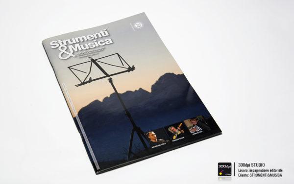 Progetto grafico della copertina Strumenti&Musica magazine nr 7