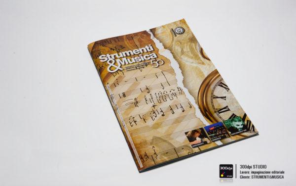Progetto grafico della copertina della rivista Strumenti&Musica nr 6