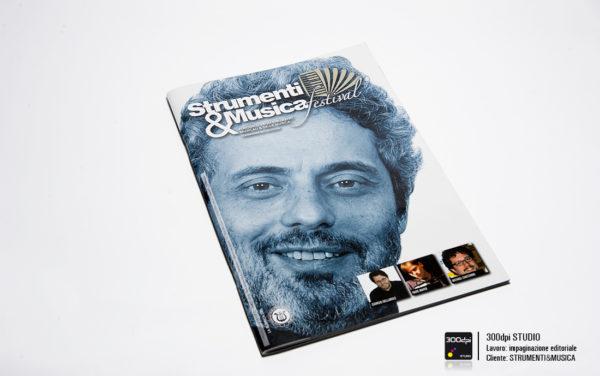 Progetto grafica della copertina della rivista Strumenti&Musica nr 10