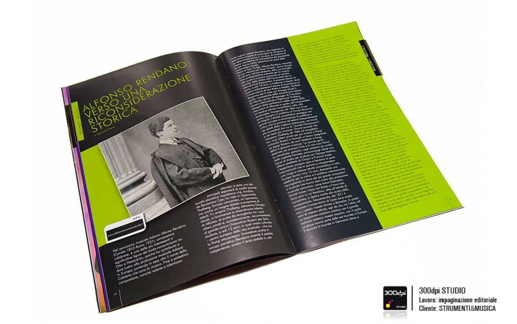 Impaginazione editoriale strumenti&Musica nr° 19 articolo su Alfonso Rendano