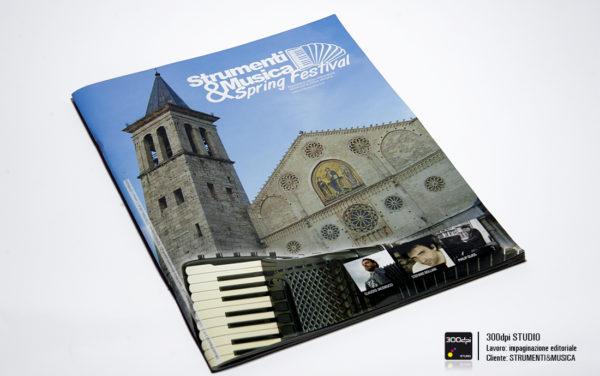 Progetto grafico rivista musicale Strument&Musica nr. 3 foto della copertina