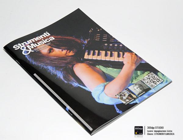 Progetto grafico della copertina della rivista Strumenti e Musica n° 18