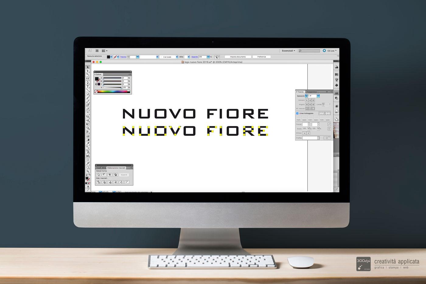Realizzazione logo Gelateria NUOVO FIORE Rimini | 300dpi STUDIO