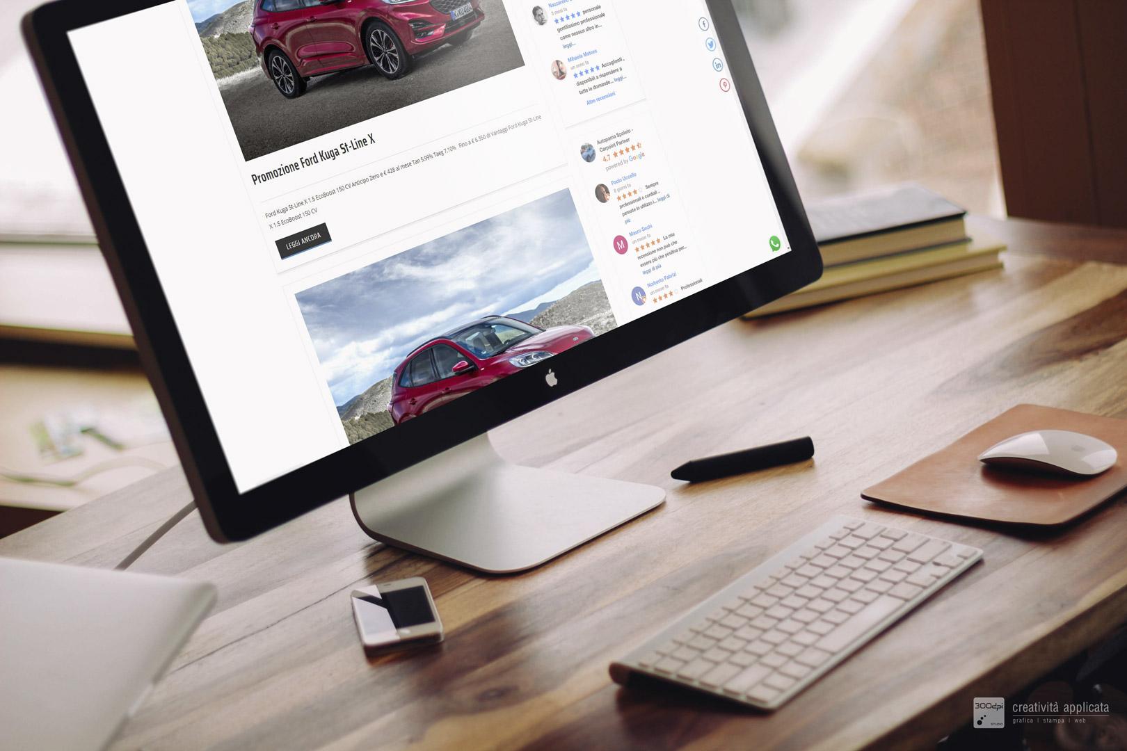 Realizzazione siti internet e servizi web Spoleto - 300dpi STUDIO per Autopama FORD UMBRIA